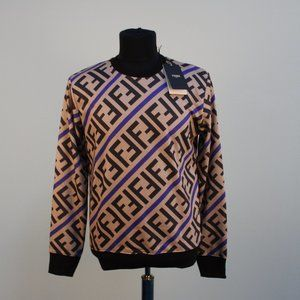 Fendi Diagonal FF Logo Print Sweatshirt